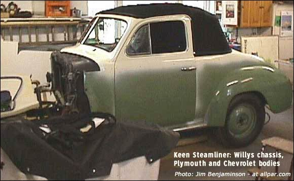 Keen Steamliner - Plymouth based steam powered car