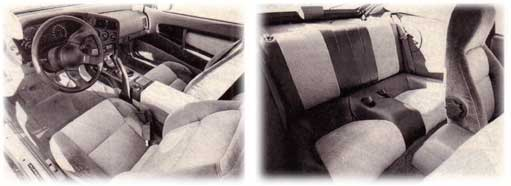 inside the 1989 laser (Mitsubishi Eclipse)